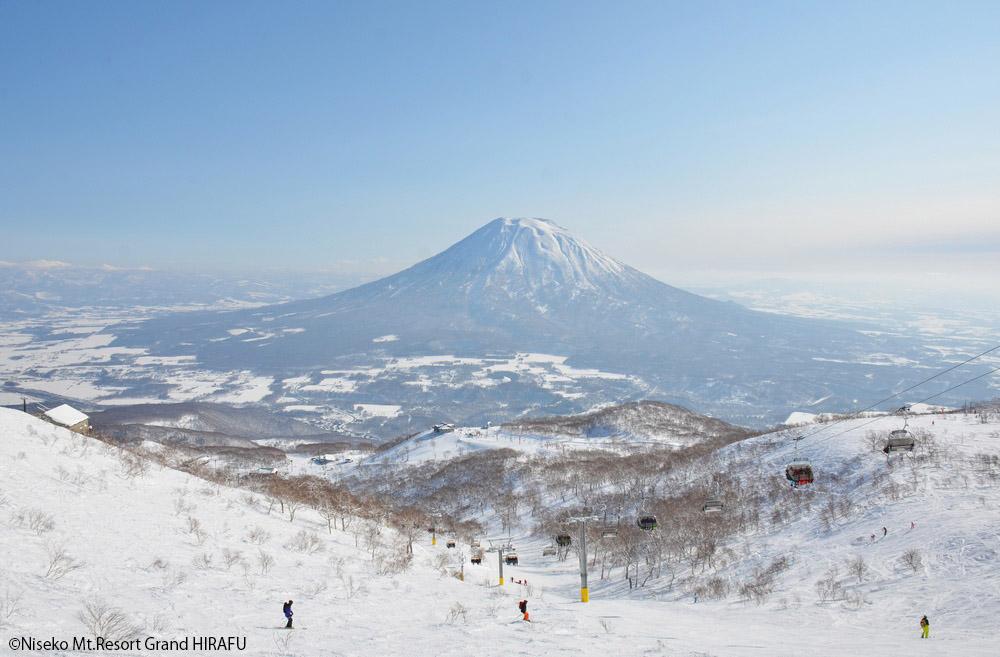 从函馆直达二世谷的滑雪巴士