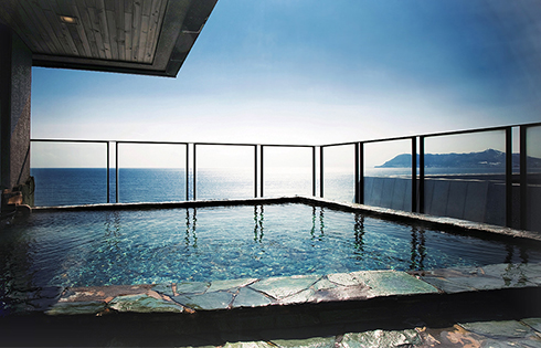 Take in the Magnificent Views from the Luxury of a Steaming Mineral Bath
