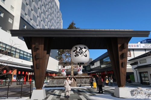 The attractive shopping center HAKOVIVA located in front of JR Hakodate Station